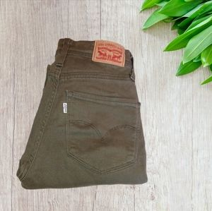 Levis Strauss & co olive green jeans skinn…